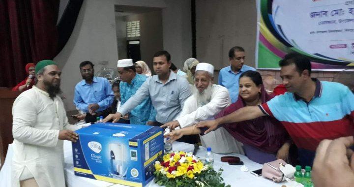 শিবপুরে ১১৫টি সরকারি প্রাথমিক বিদ্যালয়ে সুপেয় পানির ফিল্টার বিতরণ