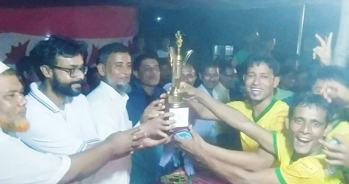 রায়পুরায় রাত্রিকালীন প্রীতি ফুটবল ম্যাচ অনুষ্ঠিত