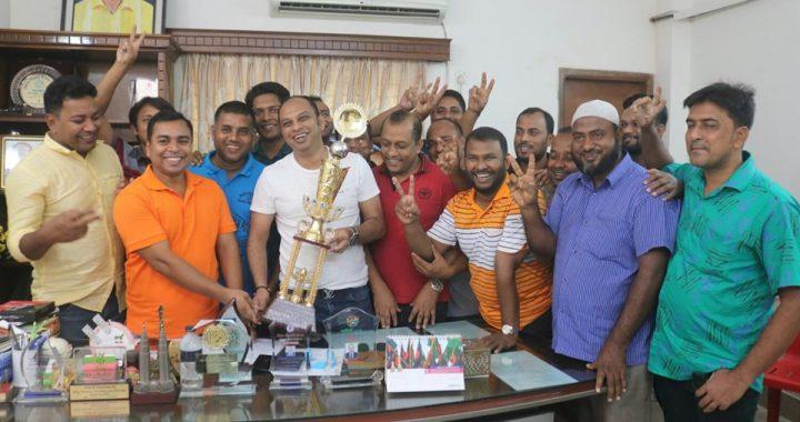 নরসিংদীর পলাশ স্পোটিং ক্লাবের চার জাতি আন্তর্জাতিক ট্রপি অর্জন