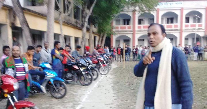 শিবপুরে ধীরগতি মোটরসাইকেল প্রতিযোগিতা অনুষ্ঠিত